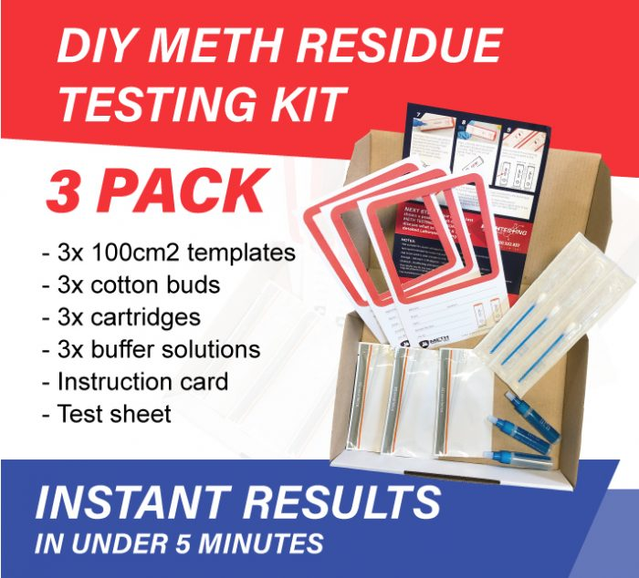 DIY Surface Residue Meth testing kits for ICE 3 pack